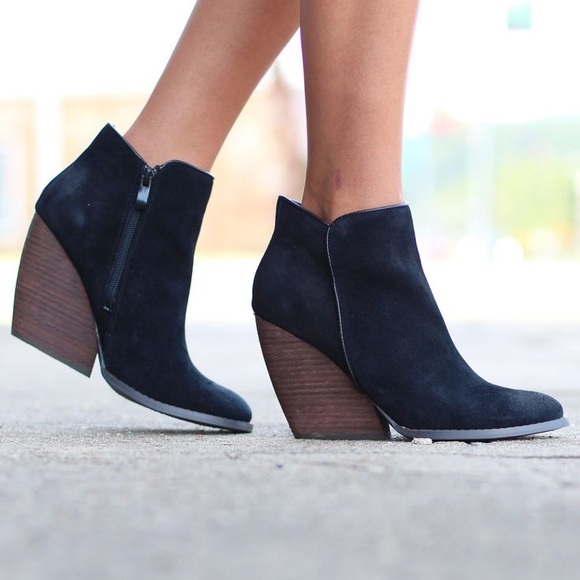 Very Volatile Shoes - Very Volatile Whitby Suede Wedge Ankle Boot
